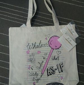 Handbags - NEW Clueless Tote with Morse Code Bracelets